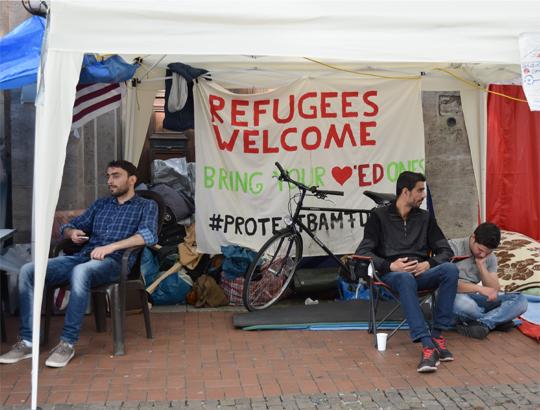 Syrisches Protestcamp, Foto: Ulrike Märkel