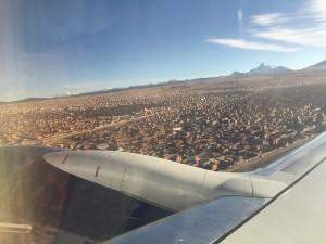 Blick auf die Steinwüste in El Alto