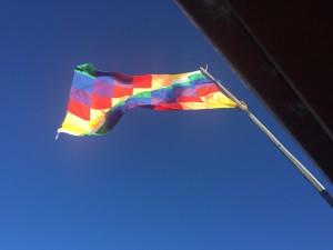 Die neue bolivianische Flagge
