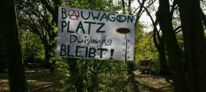 Bauwagenplatz in Duisburg-Homberg. Bild: DIY