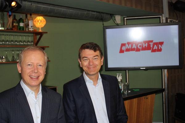 WDR-Intendant Tom Buhrow mit Fernsehdirektor Jörg Schönenborn