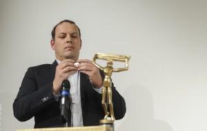 Professor Ulrich Berger bei der Preisverleihung 2014 (Foto: Martin Juen/ Flickr/ CC-BY-SA)