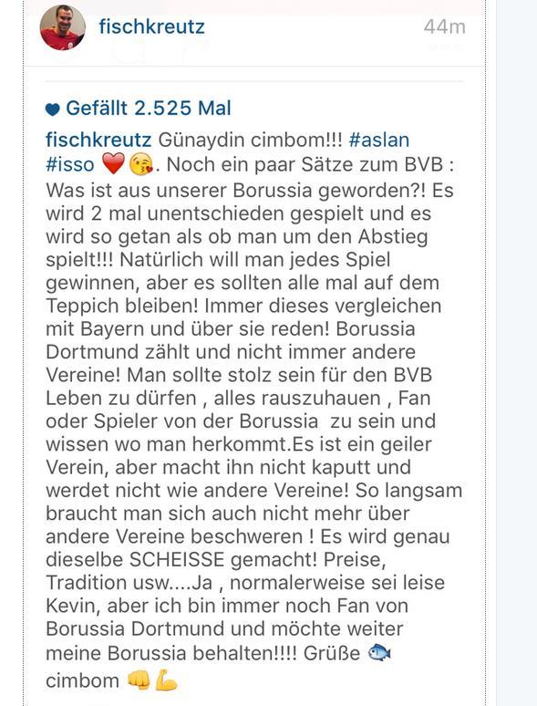 Großkreutz Instagram 29.09.15