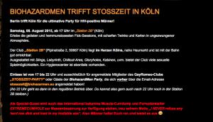 Screenshot der Seite biohazardmen.eu