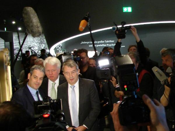 Bei der Eröffnung des DFB-Museums 2015. Foto: Robin Patzwaldt
