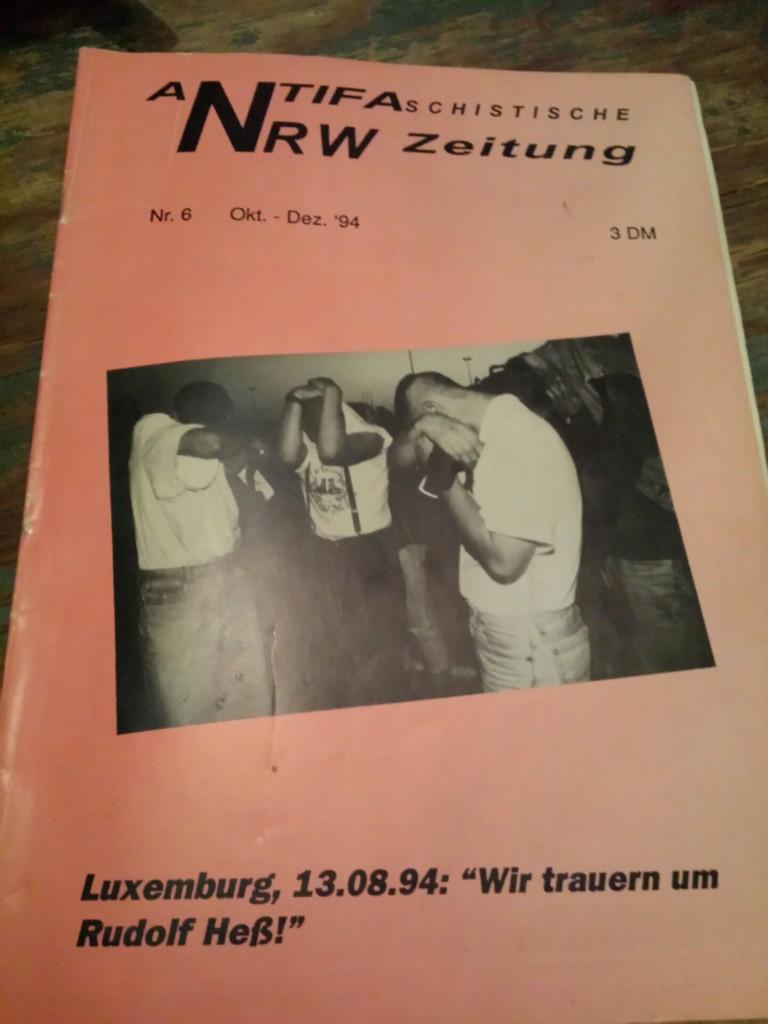 """Die """"Antifaschistische NRW Zeitung"""" berichtete 1994 über die Teilnahme von Frank S. an einem Nazi-Aufmarsch."""