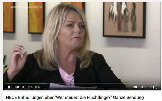 "Eva Hermann moderiert ""Wissensmanufaktur"" YouTube-Screenshot"