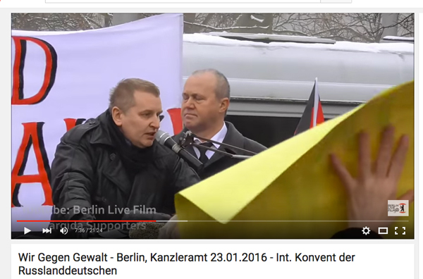 Screenshot Russendemo in Berlin