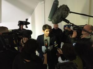 Großes Medieninteresse beim Skandalurteil von Stuttgart. (Foto: Andreas Weimann)