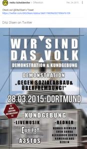 Heiko Scheidereiter bewirbt eine Demonstration der Neonazi-Partei Die Rechte (Google+)