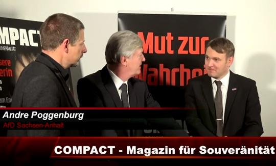 AfD-Spitzenkandidat André Poggenburg im Gespräch mit dem Rechtsextremisten Götz Kubitschek
