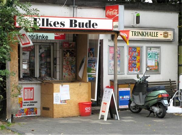 Typische 'Bude' im Ruhrgebiet. Quelle: Wikipedia, Foto: Hans-Jürgen Wiese, Lizenz: CC BY 3.0