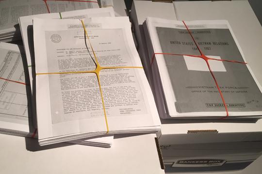 Leak von 1971: Die Pentagon Papiere (Kopien der geheimen Dokument des US-Verteidigungsministeriums)