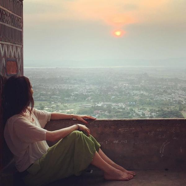 Wunderbarer Sonnenuntergang, Mandalay Hill. Foto(s): Franziska Krasnici