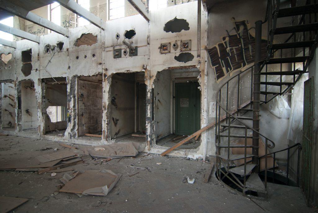 Das Schalthaus auf dem Schalker Verein hat schon bessere Zeiten gesehen. Foto von Andreas Weiss