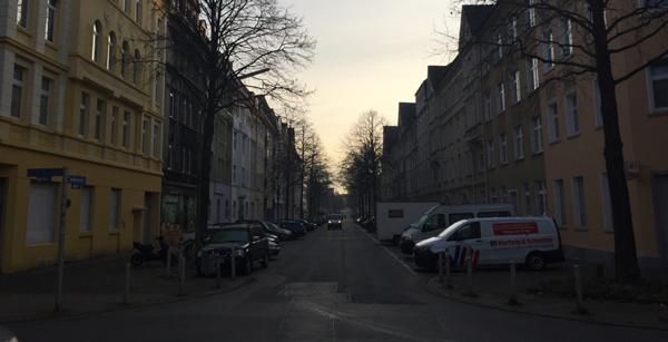Sonnenaufgang in der Dortmunder Nordstadt