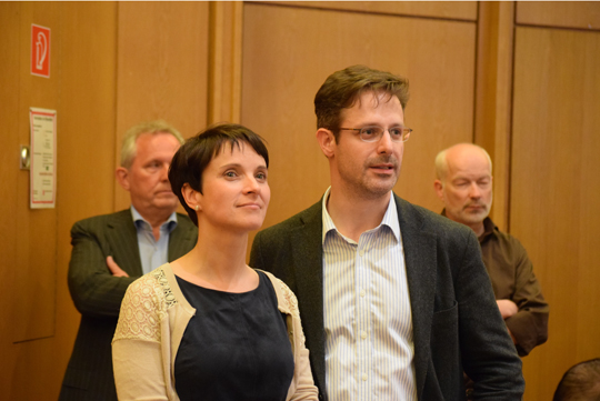 AfD-Team Marcus Pretzell und Frauke Petry, Foto: Ulrike Märkel