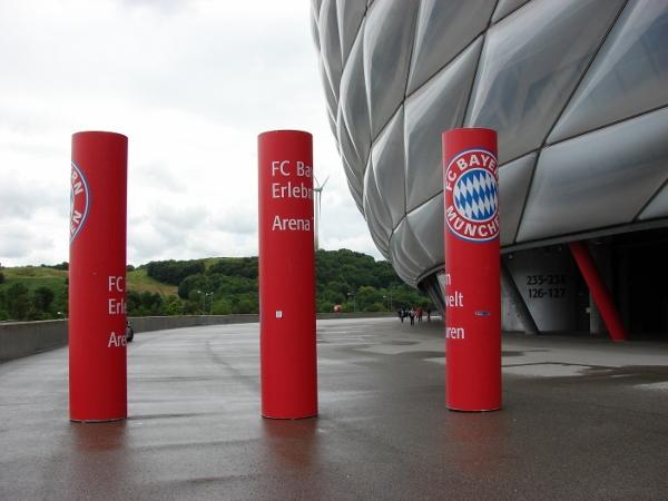 Am Stadion in München. Foto: Robin Patzwaldt