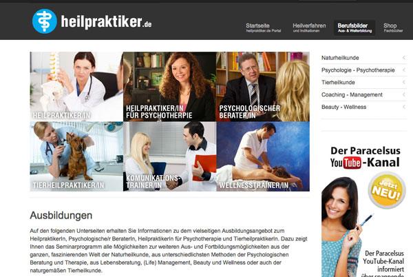 Infoseite über Heilpraktiker