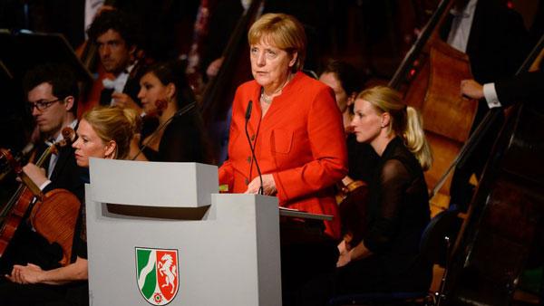 Bundeskanzlerin Angela Merkel beim Festakt 70 Jahre NRW