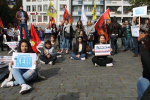 Protestaktion von Jugendlichen in Köln