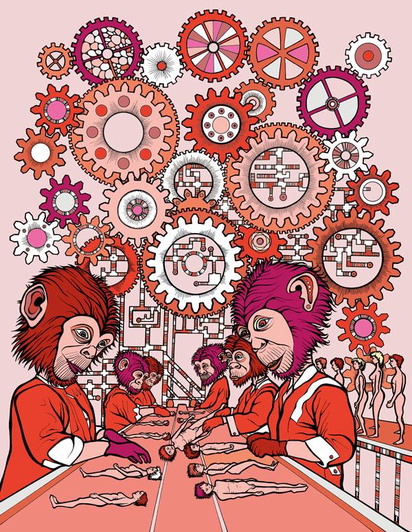 Viola Welker: Human behaviour 2 Red