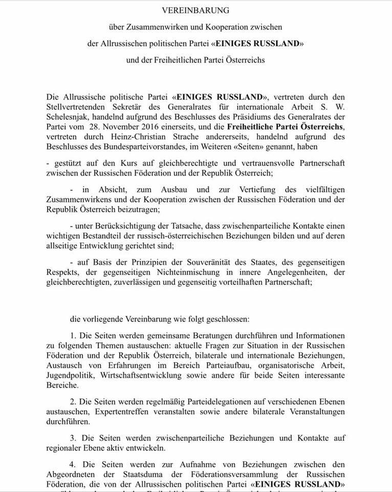 Teil 1 des Kooperationsvertrags.
