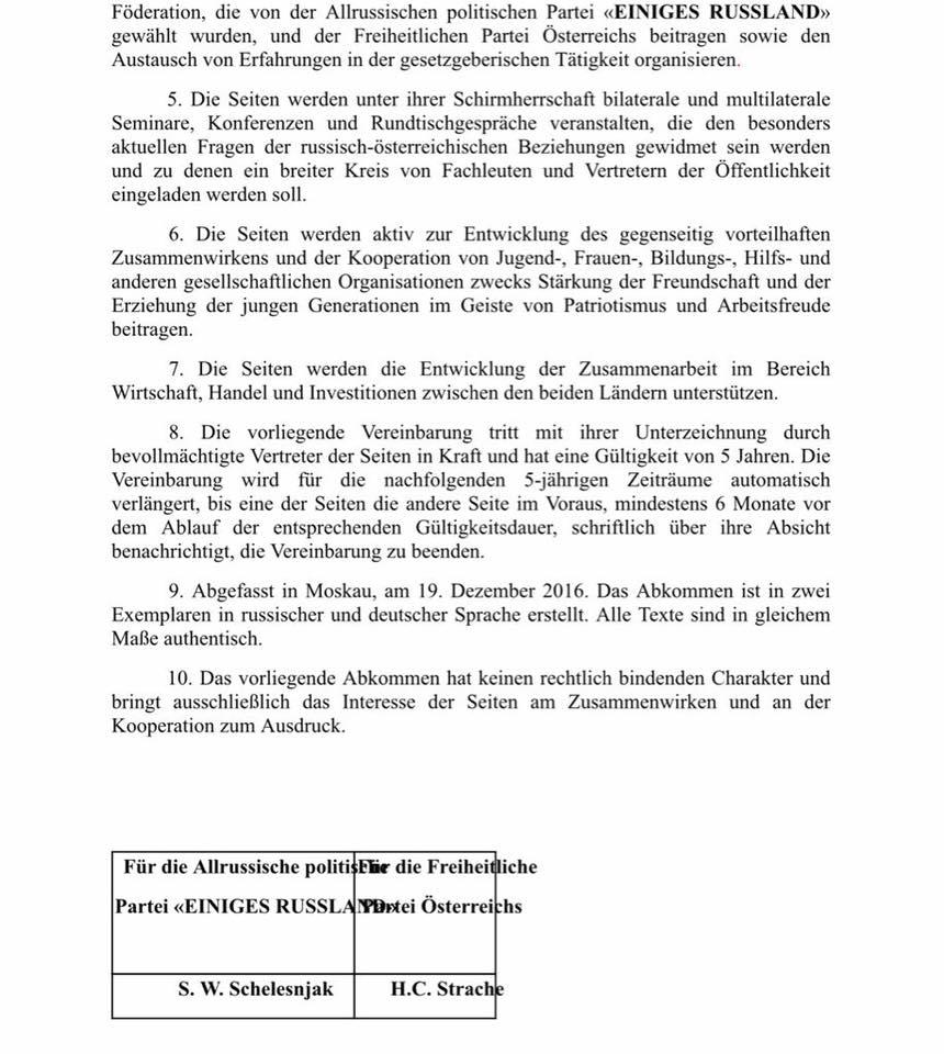 Teil 2 des Kooperationsvertrags.