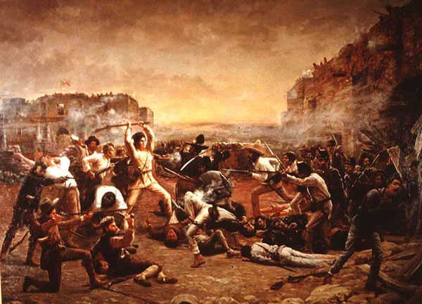 The Fall of the Alamo , Robert Jenkins Onderdonk Lizenz: Public Domain
