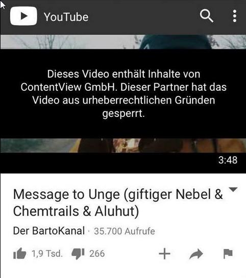 Von Unge gesperrte Videos mit Kritik