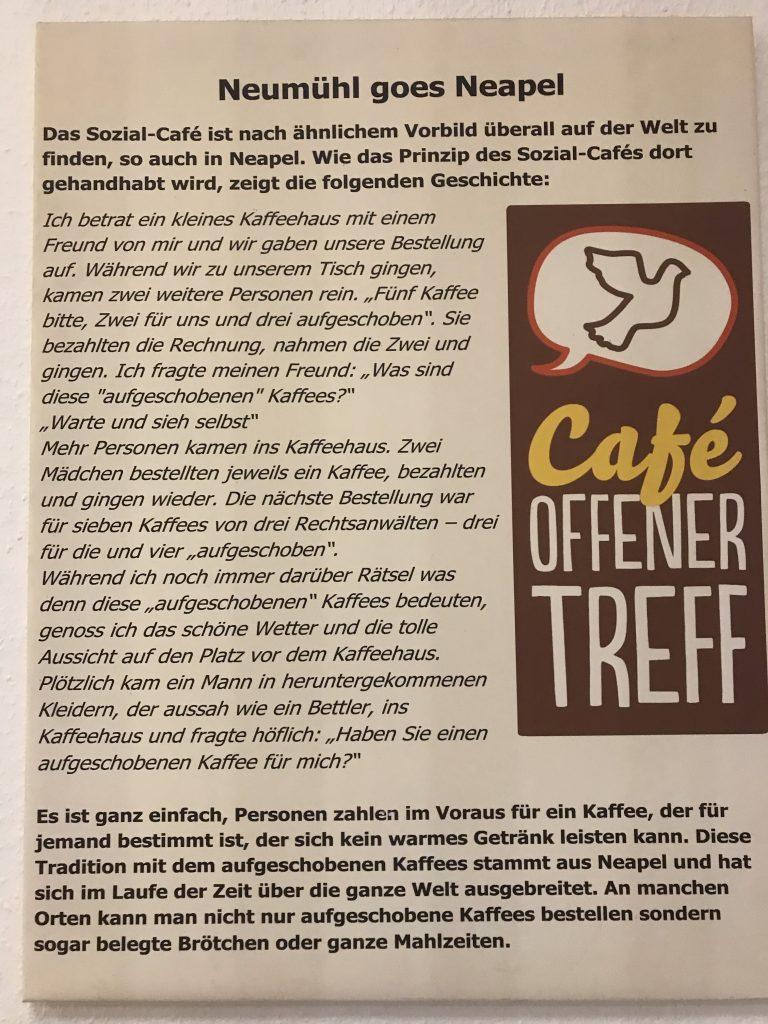 Best Practice Neumühl: Aufgeschobener Kaffee; Foto: Peter Ansmann