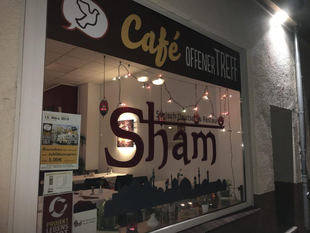 """Syrisch-Deutsches Restaurant Sham und """"Offener Treff mit Herz""""; Foto: Peter Ansmann"""