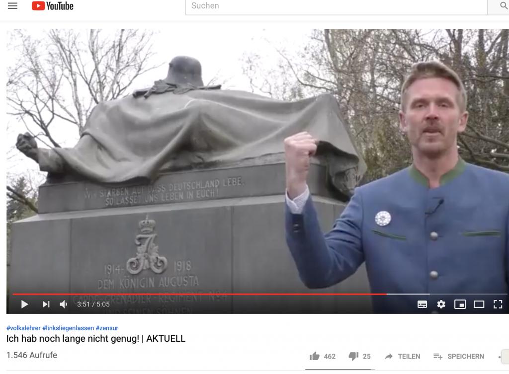 """Trotz """"Volkskraftwochen"""": Der YouTube-Kanal und das Konto von """"Volkslehrer"""" Nikolai Nerling sind gesperrt!"""