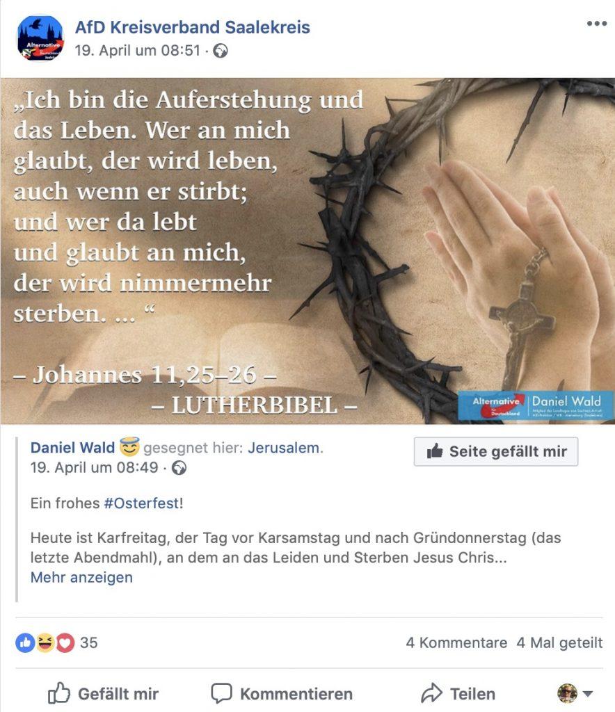 """Beten für Bernd Hoecke und Wahlerfolge: Beim Arbeitskreis """"Mujahedin in der AfD im Saalekreis""""!"""