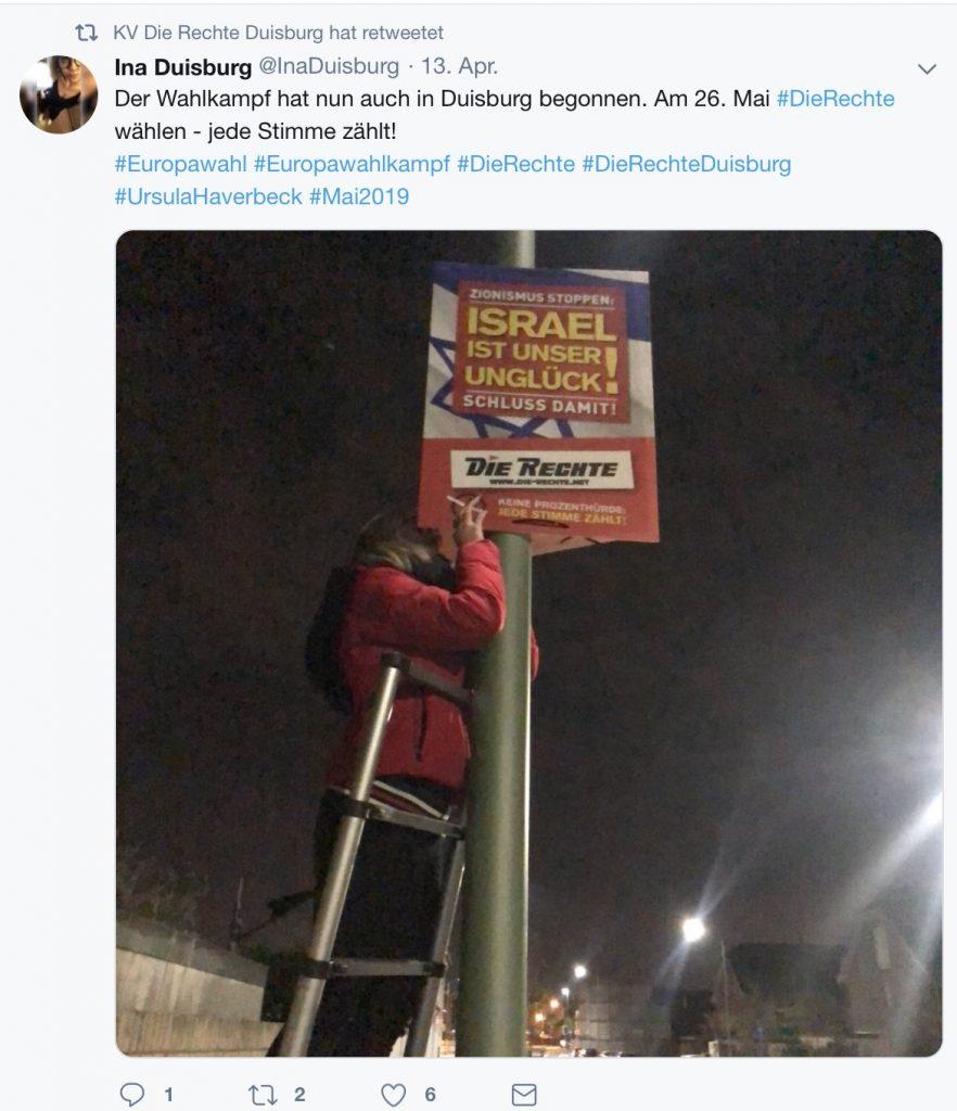 Impressionen aus dem Twitter-Account der Nazis: Wahlkampf in Duisburg...