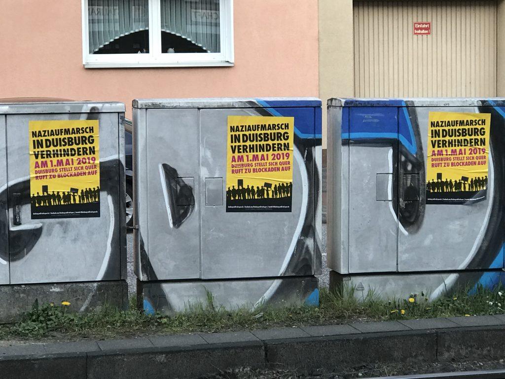 In Duisburg-Wanheimerort wird gegen die Nazidemo mobilisiert; Foto: Peter Ansmann