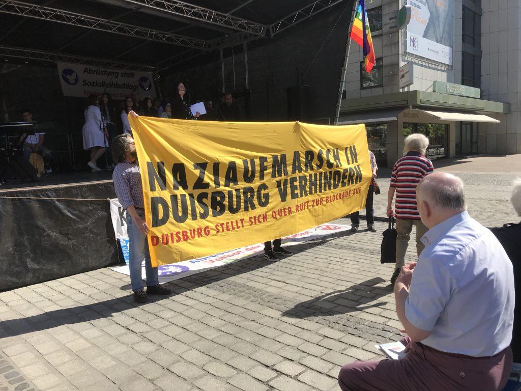 Duisburg stellt sich quer: Informationen zur Nazidemo in Duisburg - und zum Gegenprotest; Foto: Peter Ansmann