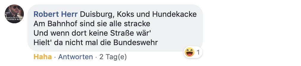 Kritische Lyrik zu Duisburg, die trotzdem Hoffnung macht; Screenshot