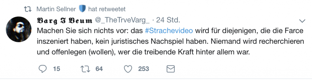 Verschwörungstheorien: Retweets von Marin Sellner; Screenshot Twitter