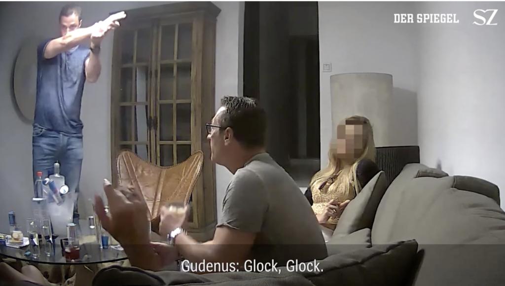 HC Strache: Gutgelaunt und kettenrauchend auf Ibiza; Screenshot: SPIEGEL / Süddeutsche Zeitung