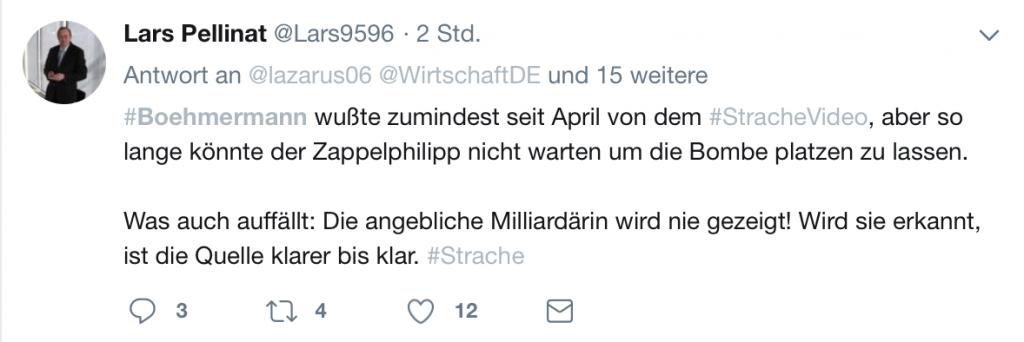 Sehr verdächtig für Verschwörungstheoretiker: Jan Böhmermann; Screenshot Twitter