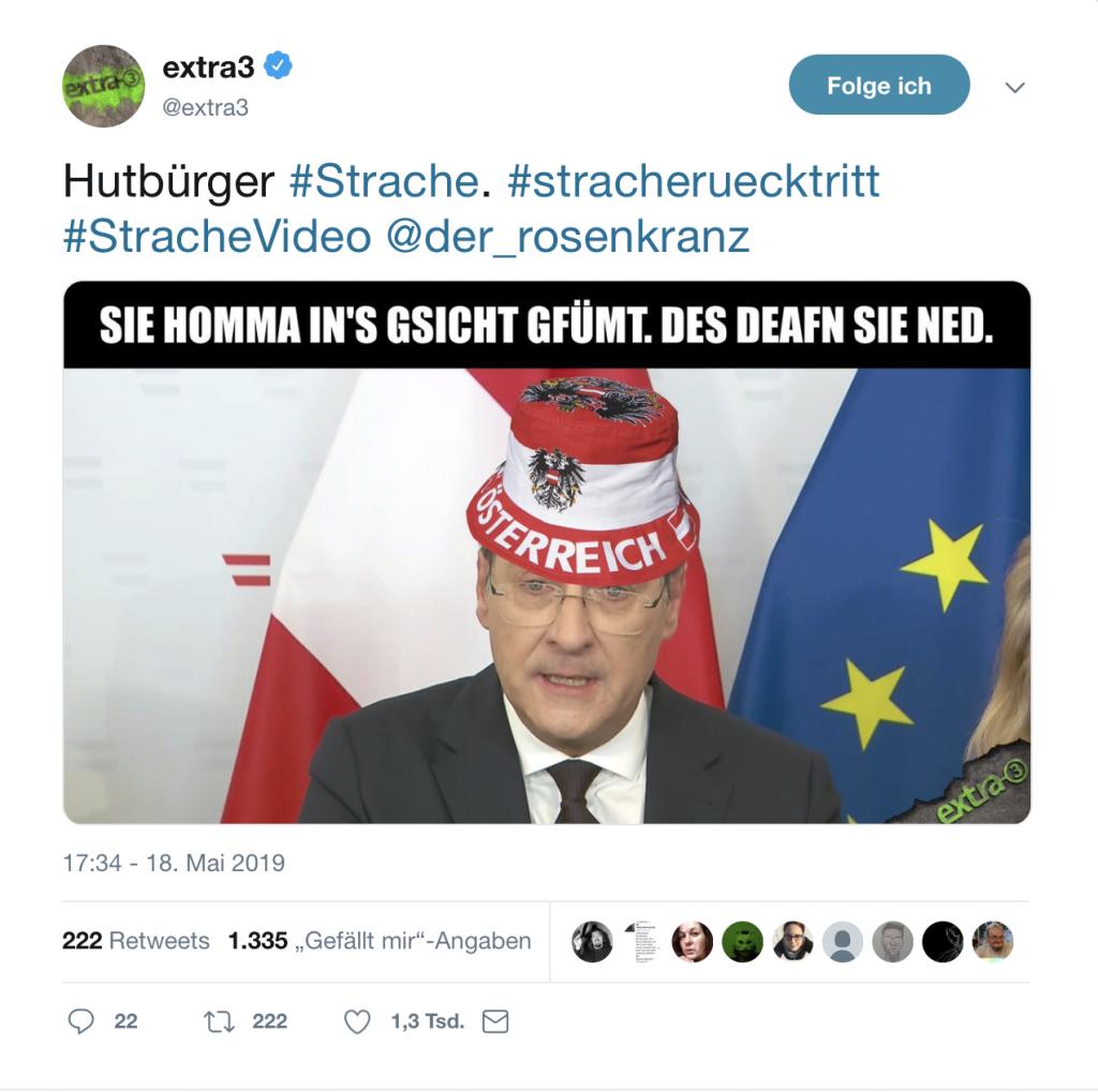 Die österreichische Version des Hutbürgers; Foto: Screenshot Twitter
