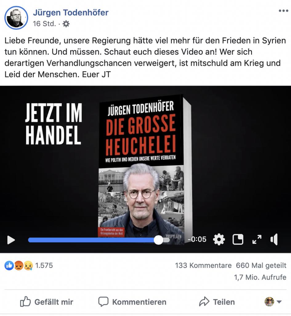 """Werbung """"Die große Heuchelei""""; Foto: Screenshot Facebook"""