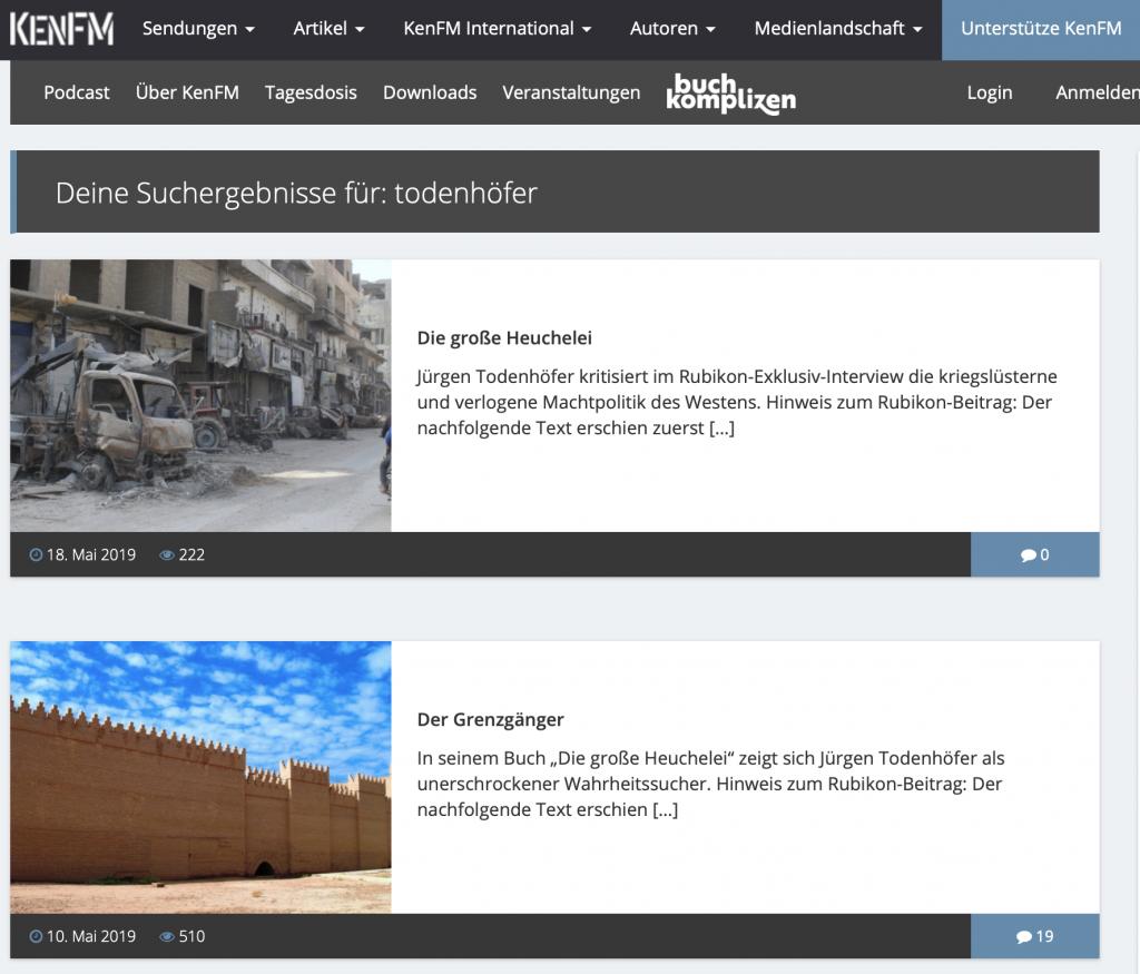 KenFM und JT: Passt!; Foto: Screenshot