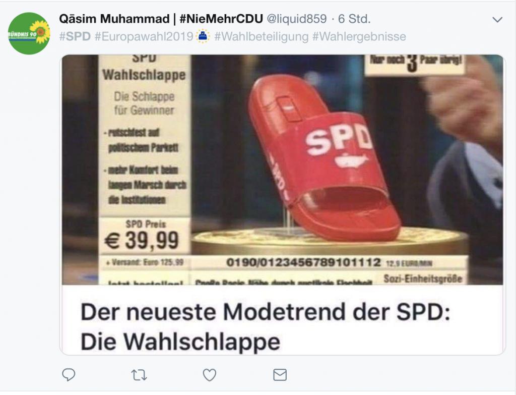 Stark im Schwange bei der SPD: Die Wahlschlappe; Screenshot
