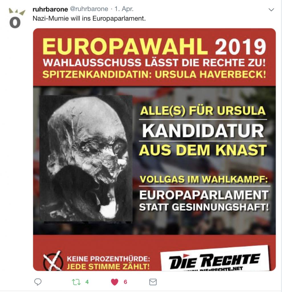 Die Ruhrbarone zum zentralen Wahlkampfthema der Nazis aus Dortmund-Dorstfeld; Screenshot