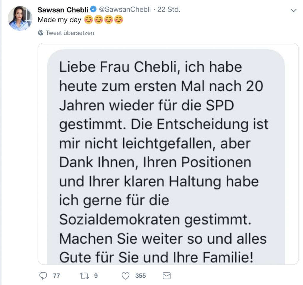 Frohe Kunde für die SPD: Jetzt geht es aufwärts! Screenshot