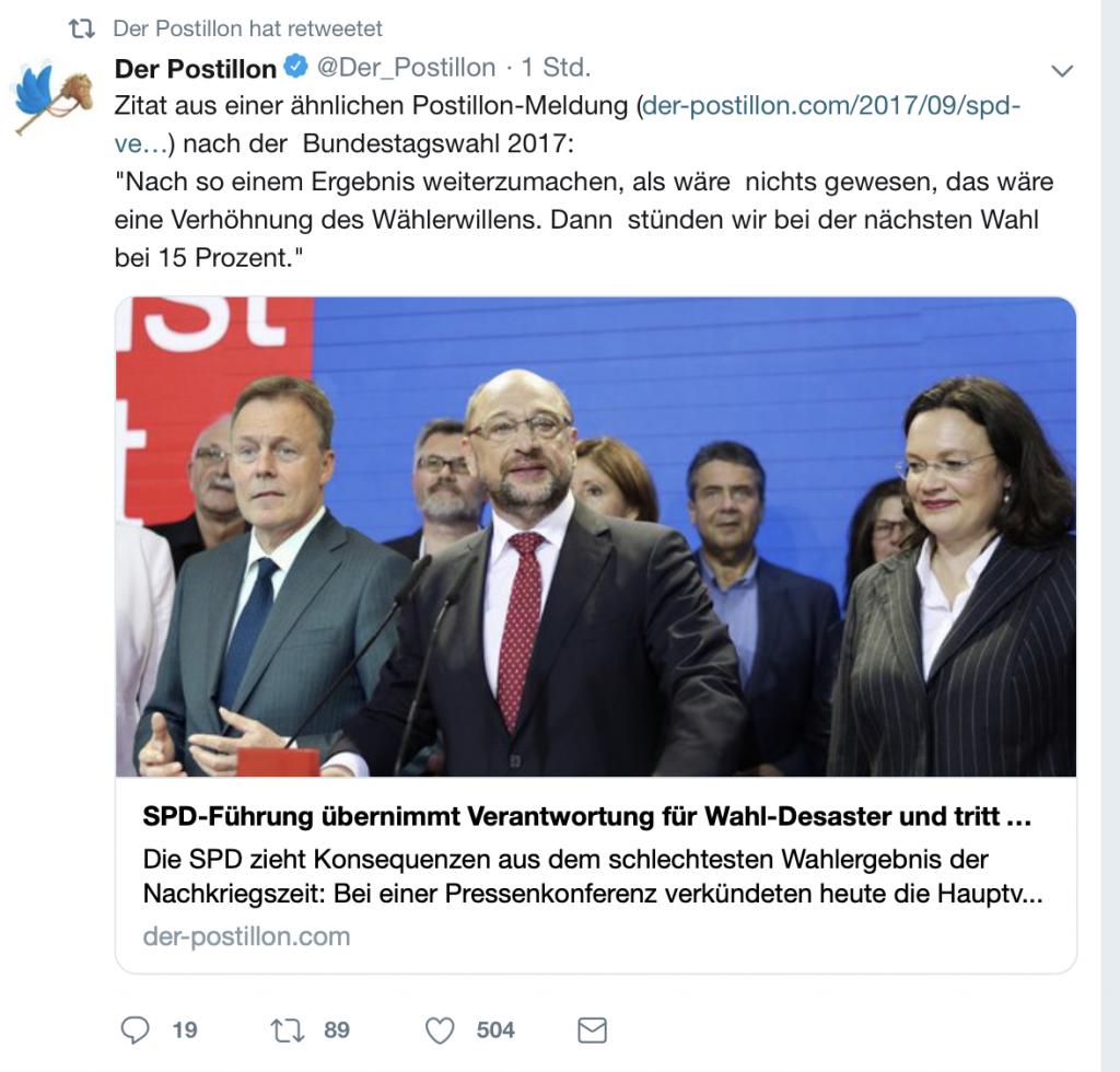 SPD-Führung tritt geschlossen zurück! Nachrichten von morgen schon heute! Screenshot