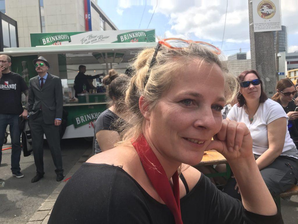 Lena Oberbäumer (DIE PARTEI Bielefeld); Foto: Peter Ansmann