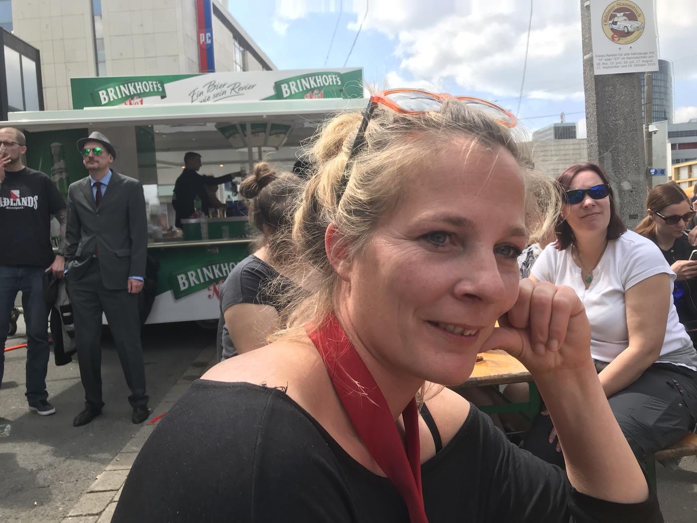 Lena Oberbäumer, Vorsitzende DIE PARTEI Bielefeld; Foto: Peter Ansmann
